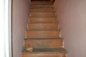 Stairway up to attic