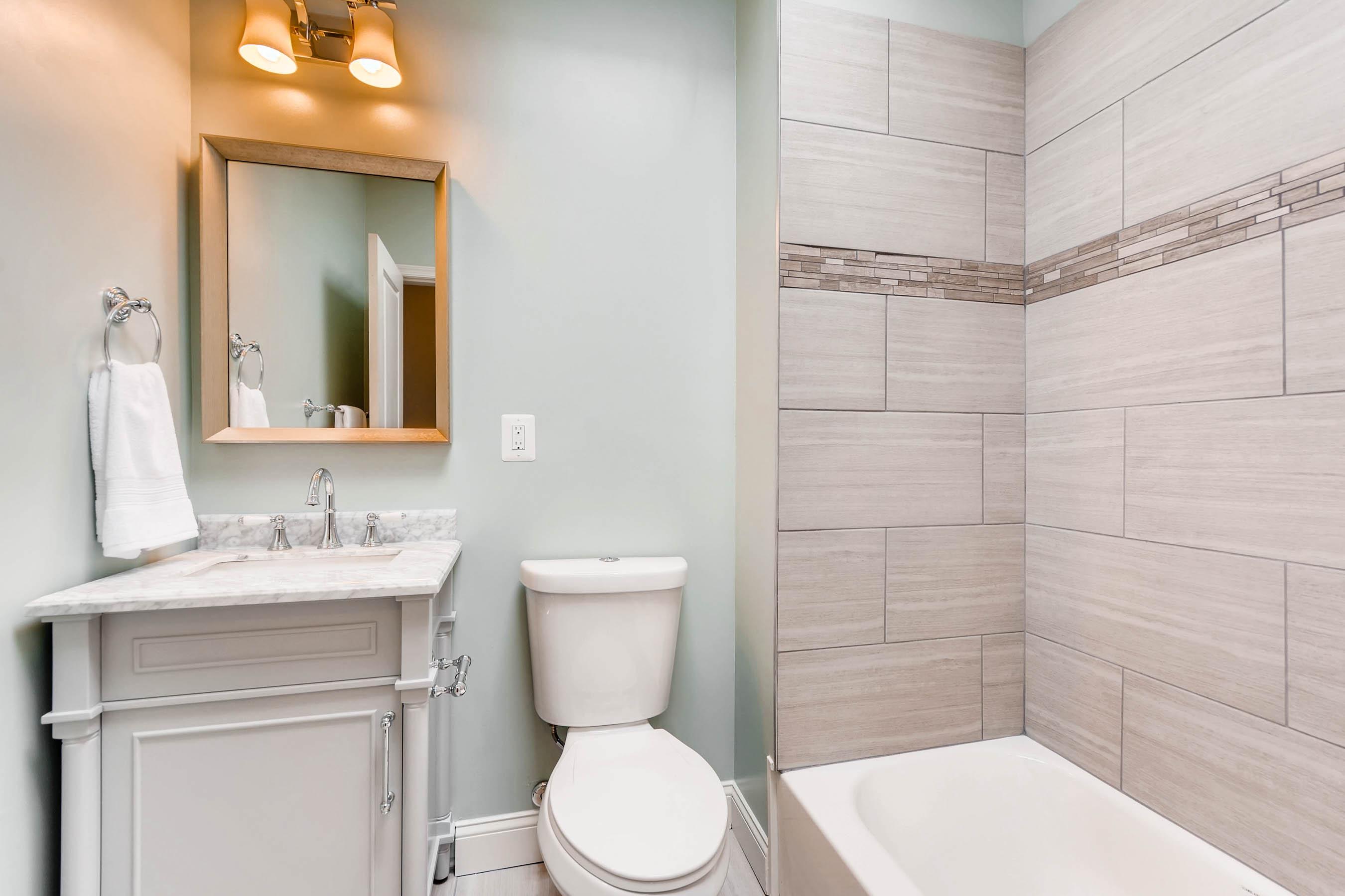 Bathroom. Master Bathroom In Woodlawn Blue