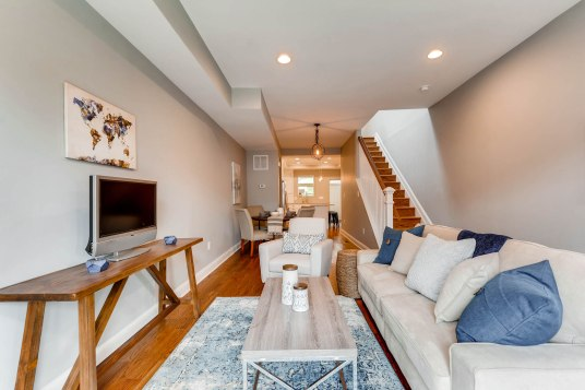 Living Room painted in Chelsea Gray