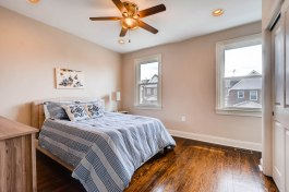 Master bedroom in Edgecomb Gray